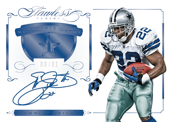 Emmitt Smith 2015 Flawless auto relic