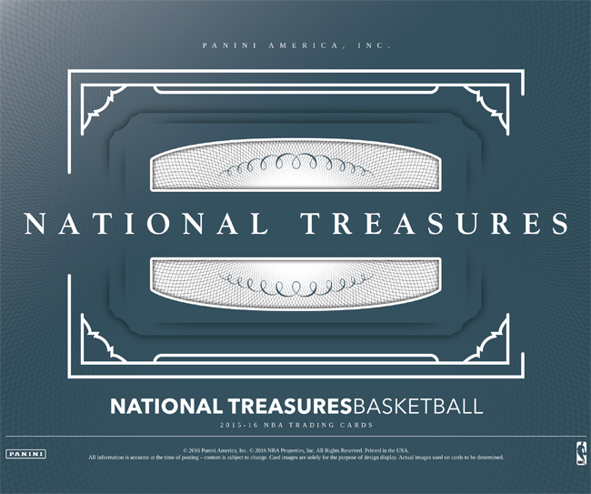2016 Panini National Treasures basketball box