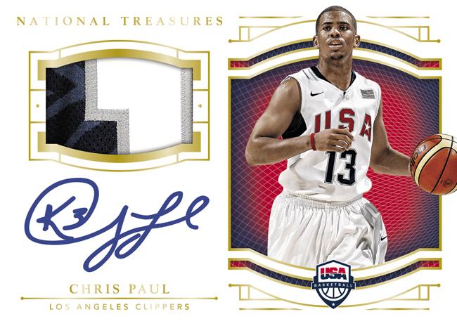 2016 National Treasures USA Basketball patch Chris Paul autograph