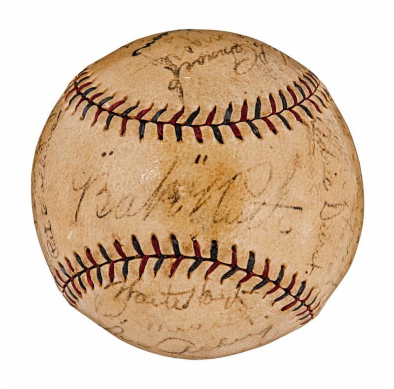 1927 Yankees team signed baseball