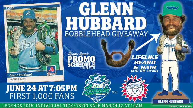 Glenn Hubbard bobblehead promotion