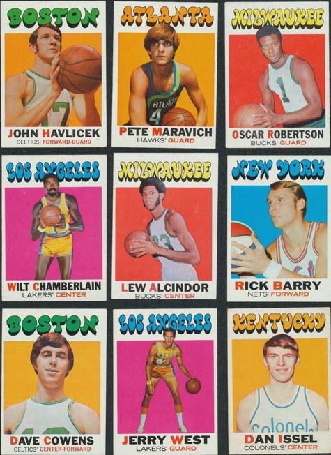 Topps 1971-72 Basketball cards