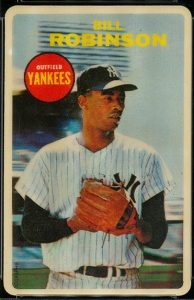 The rare 1968 Topps 3D cards have a clear plastic front to give a three dimensional appearance