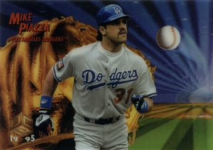 1995 Sportflix 'Magic Motion' card of Mike Piazza