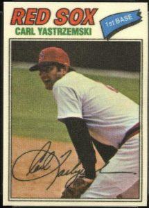 1977 Topps Cloth Sticker Carl Yastremski