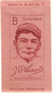 1909-11 S74 silk pink Zach Wheat