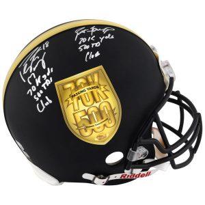 Manning-Favre autographed helmet
