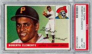 Roberto Clemente rookie card PSA 8