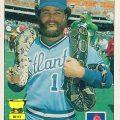 Glenn Hubbard snake card 1984 Fleer