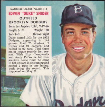 Red Man Duke Snider 1955