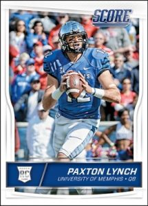 2016 Score Football cards Paxton Lynch