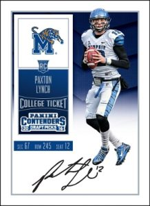 Playoff Contenders Paxton Lynch autograph