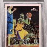 Kobe Bryant rookie card Topps Chrome Refractor