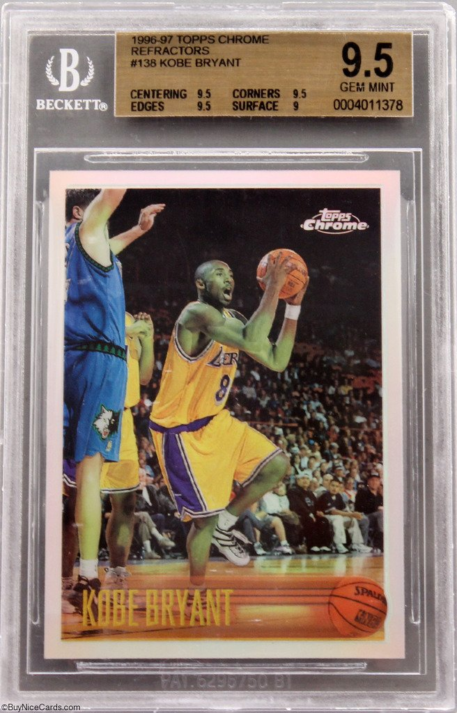 Kobe Bryant rookie card Topps Chrome Refractor