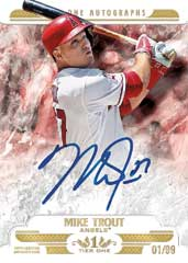 Mike Trout auto 2016 Topps Tier One