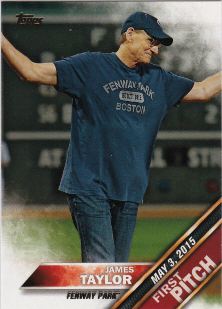 First Pitch James Taylor Topps card