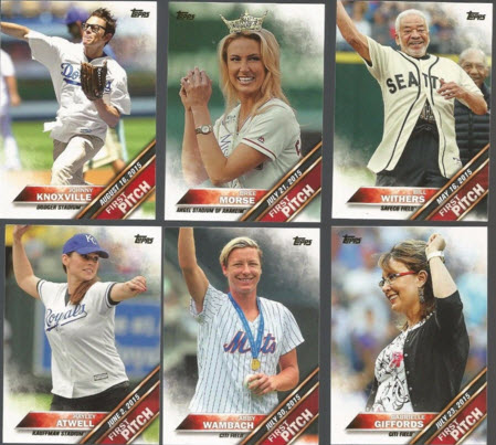 2016 Topps First Pitch cards