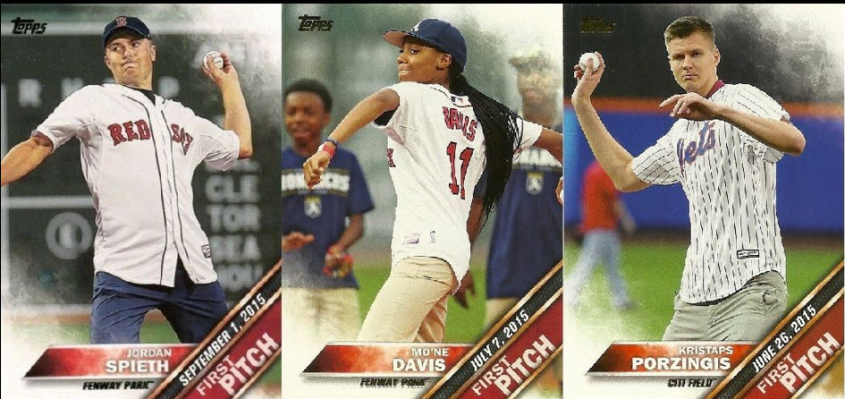 First Pitch cards 2016 Topps baseball series one