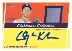 Clubhouse Collection auto relic 2016 Heritage High Numbers
