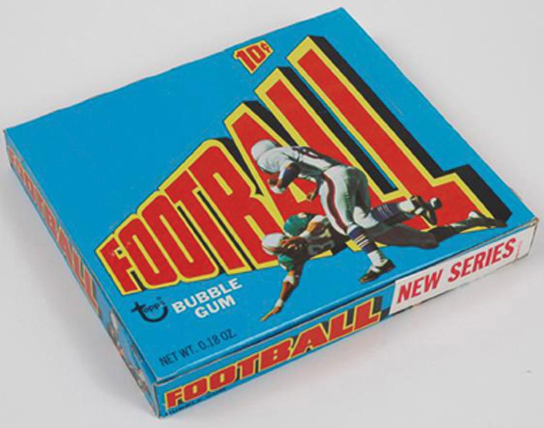 Topps 1972 football wax box