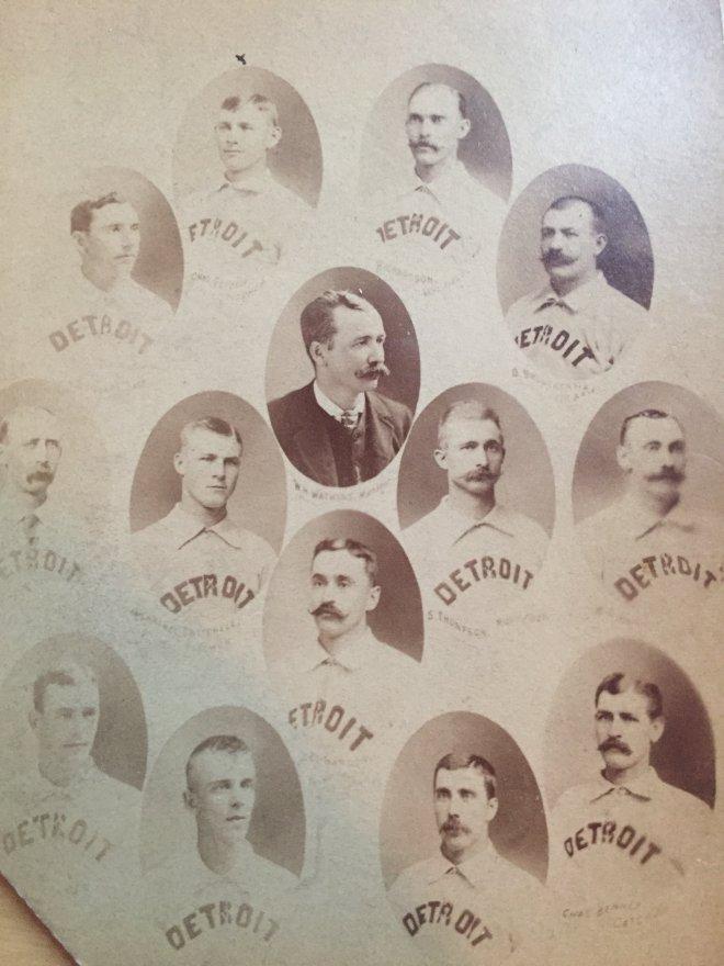 Detroit Wolverines cabinet 1887