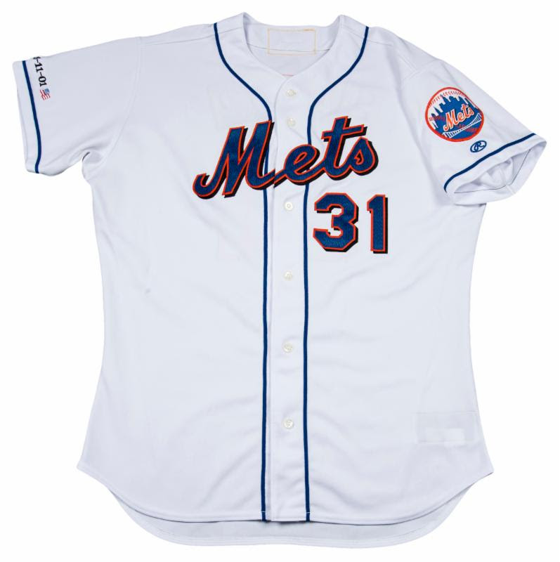 2001 Mike Piazza September 11 home run jersey