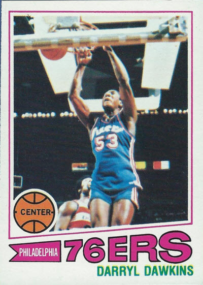 1977-78 Topps Darryl Dawkins rookie