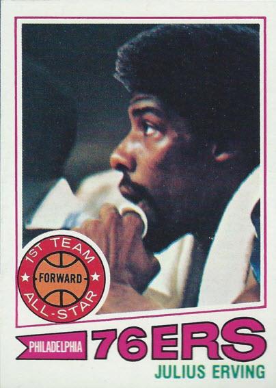 Julius Erving card 1977-78 Topps