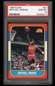 1986 Fleer Michael Jordan PSA 10 rookie card