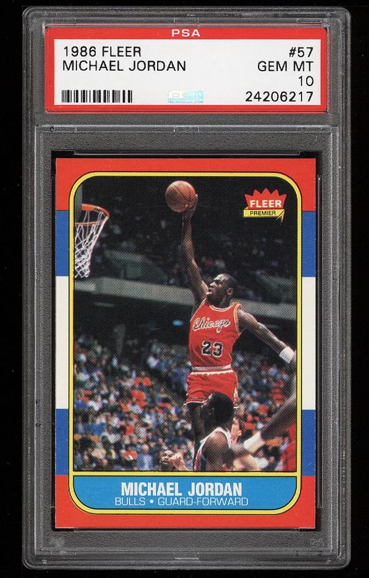 1986 Fleer Michael Jordan PSA 10 rookie card