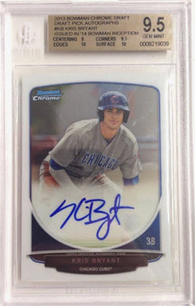 Bowman Chrome Draft 2013 Kris Bryant auto