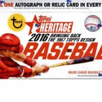 Topps heritage 2016 hobby box