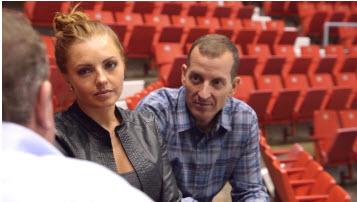 CBS Sports Network's Lauren Gardner and former FBI Agent Kevin Barrows.