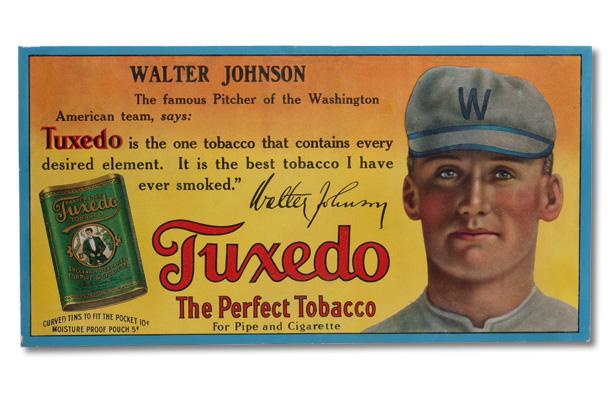 Tuxedo Tobacco Walter Johnson display ad