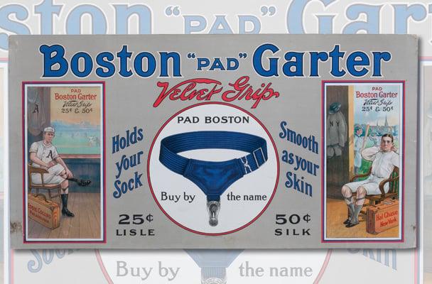 Boston Garter ad Hal Chase Eddie Collins
