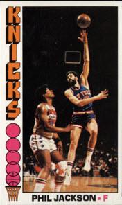 Phil Jackson 1976-77 Topps basketball card