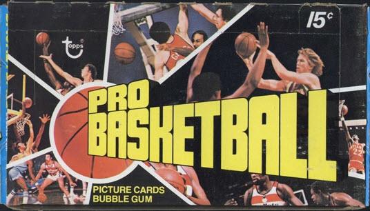 Topps Basketball wax box 1976-77