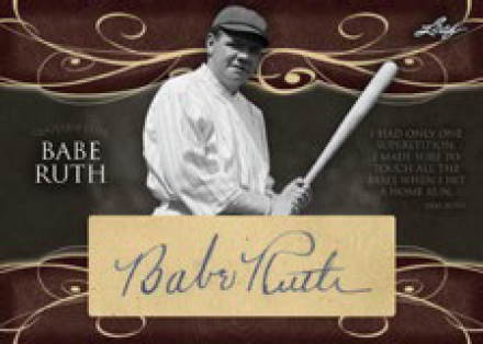 Babe Ruth auto 2016 Leaf Collection