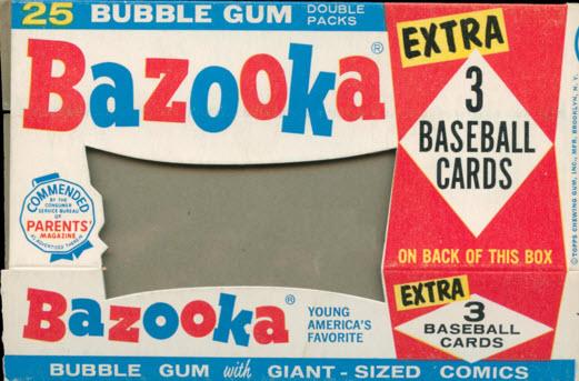 Bazooka bubble gum box front