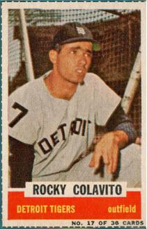 Rocky Colavito 1961 Bazooka baseball card
