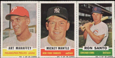 Mickey Mantle 1961 Bazooka panel