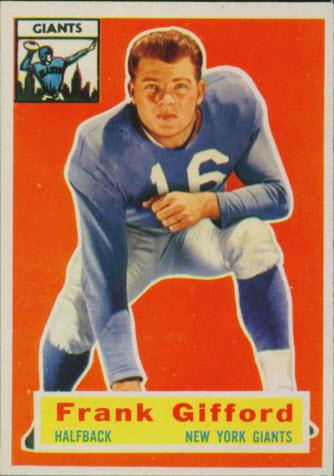 Frank Gifford 1956 Topps
