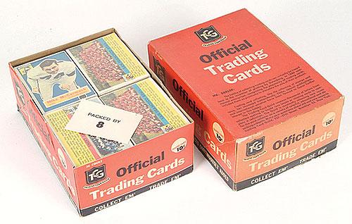 Topps 1956 Football cello box