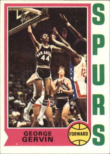 George Gervin rookie card