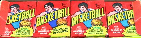 1974-75 Topps basketball packs