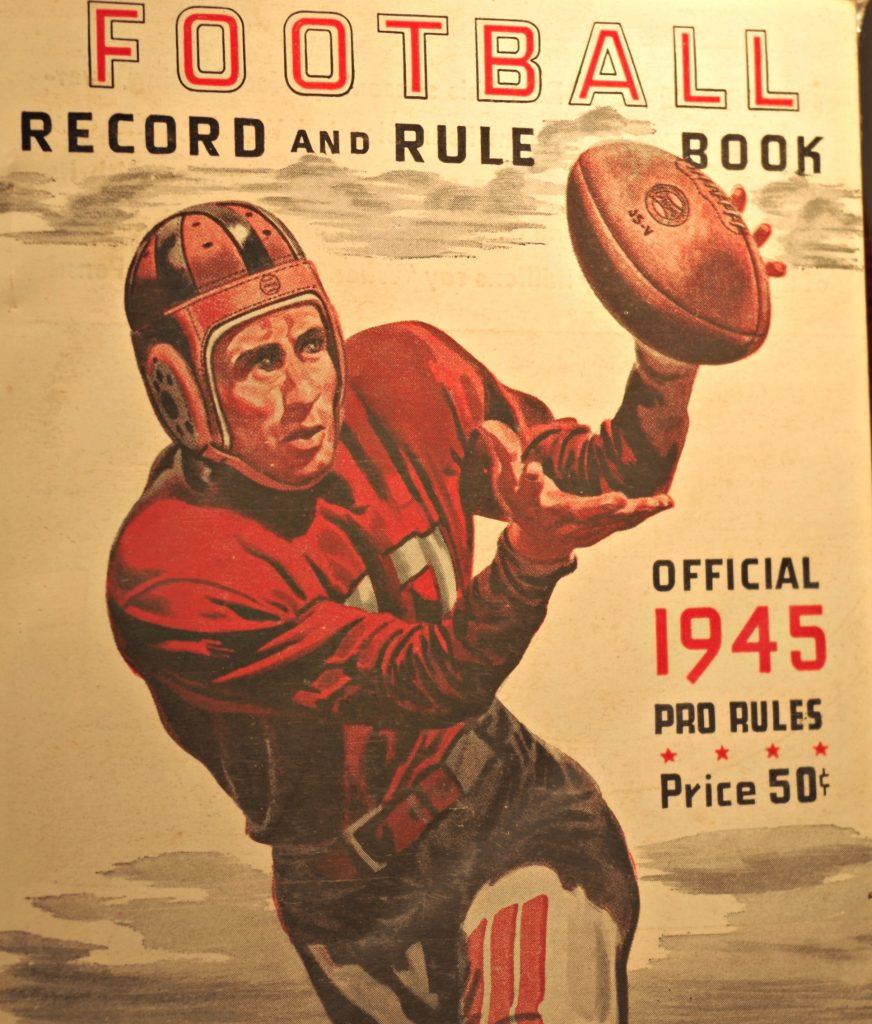 1945 Football Record Rule Book