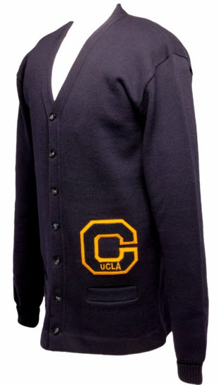 Kareem Abdul-Jabbar UCLA lettermans sweater