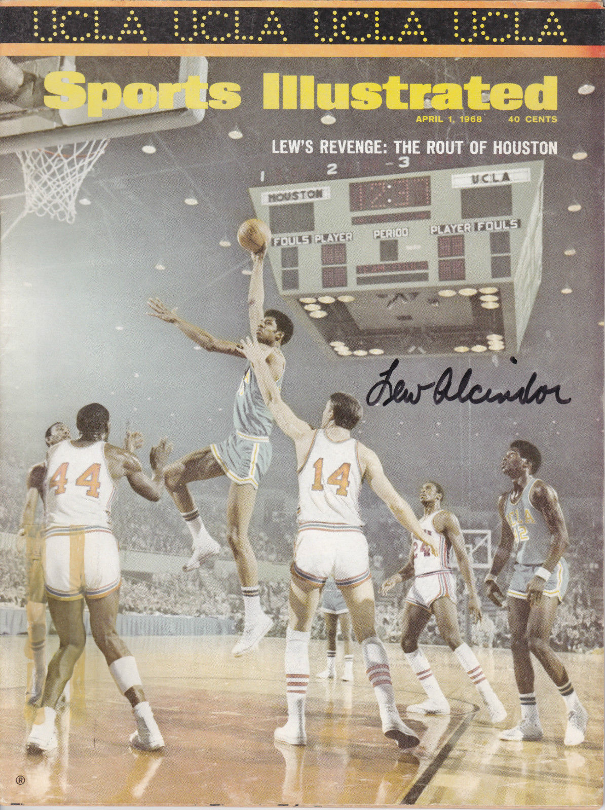 Lew Alcindor autographed Sports Illustrated