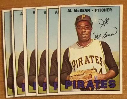 1967 Topps Al McBean baseball cards