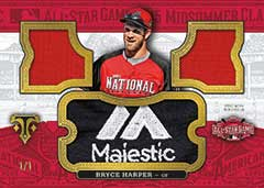 Bryce Harper 2016 Topps Triple Threads Majestic patch